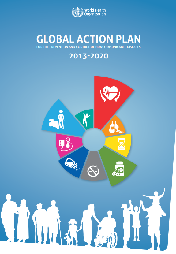 Overview  Scope: The action plan provides a road map and a menu of policy options for all Member States and other stakeholders, to take coordinated and coherent action, at all levels, local to global, to attain the nine voluntary global targets, including that of a 25% relative reduction in premature mortality from cardiovascular diseases, cancer, diabetes or chronic respiratory diseases by 2025.  Focus: The main focus of this action plan is on four types of NCDs — cardiovascular diseases, cancer, chronic r