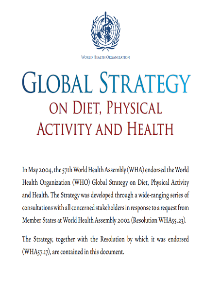 who global strategy on diet and physical activity
