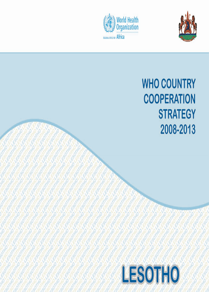 Lesotho Country Cooperation Strategy 2008-2013