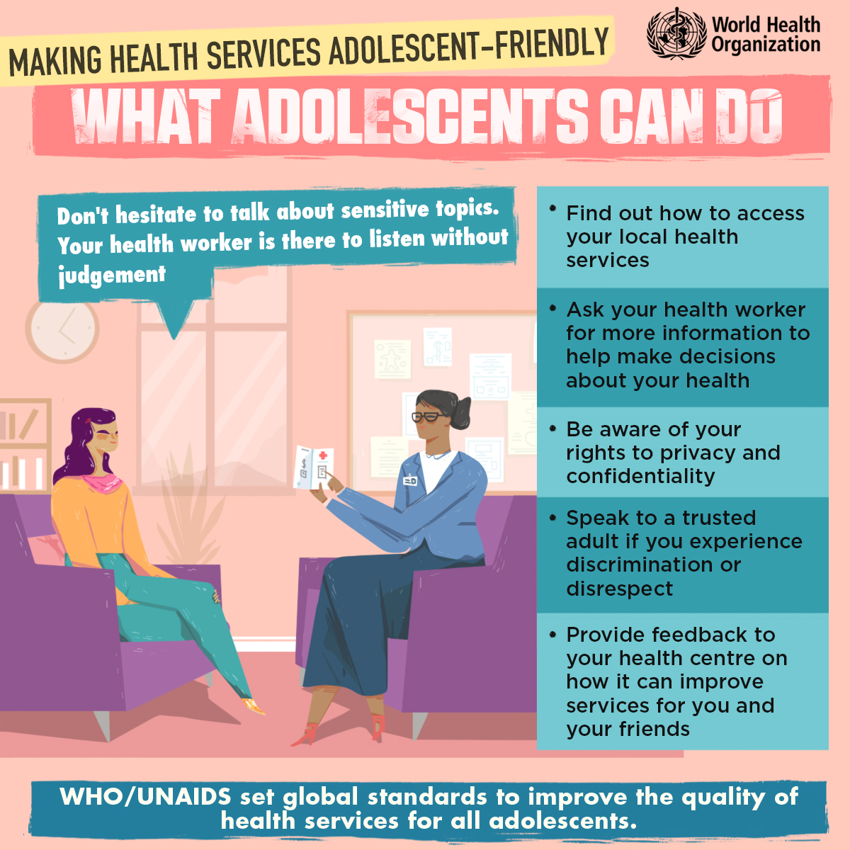 Making health services adolescent-friendly: What adolescents can do
