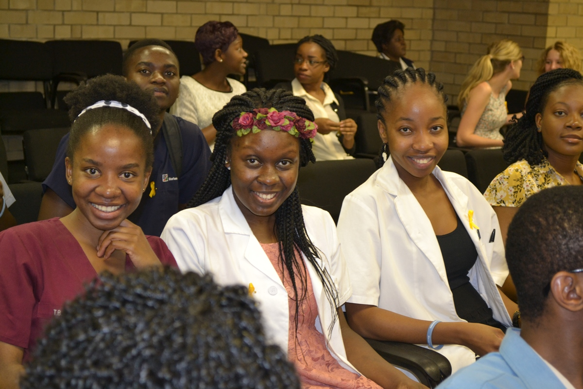 Participants at the public lecture on mental health in the workplace