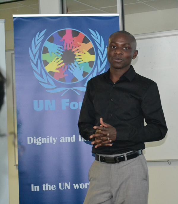 Mr David Uushona, UN Cares Namibia Chairperson