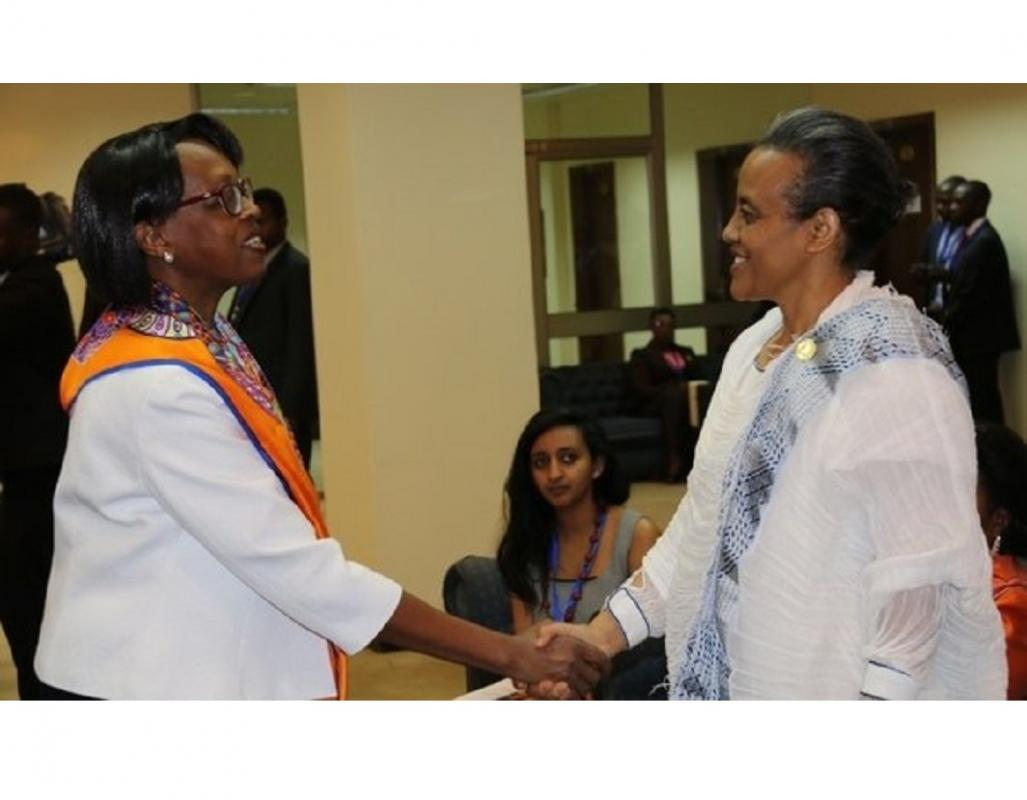 Dr Moeti with the First Lady of Ethiopia