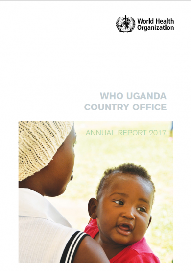 WHO Uganda Annual Report cover