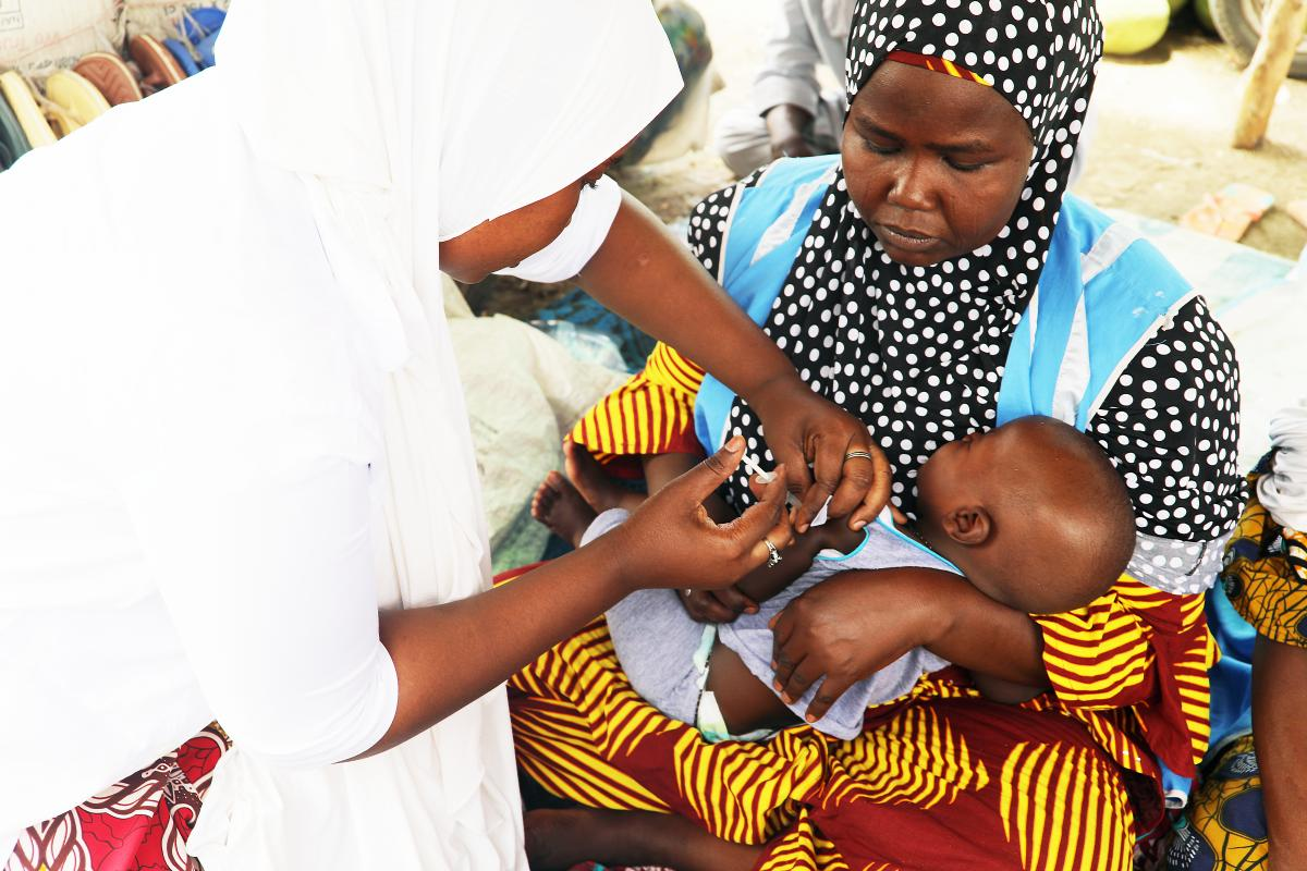 An increasing number of measles cases in Borno State, Nigeria