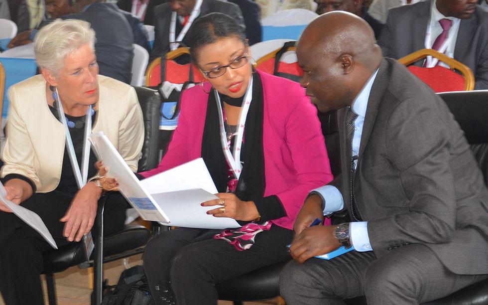 WHO Representatives confer during the event