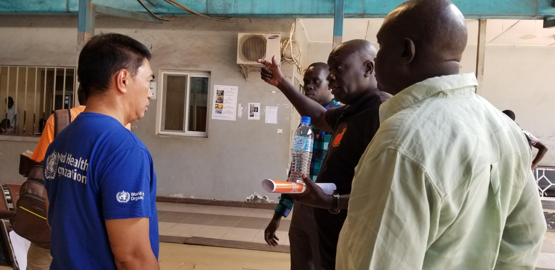 Participants assessing the implementation of IPC in Juba Teaching Hospital