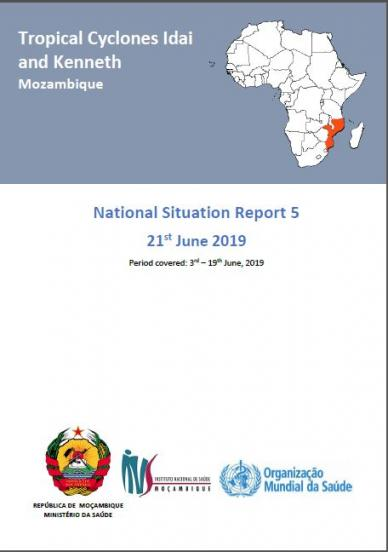 Tropical Cyclones Idai and Kenneth Mozambique National Situation Report 5
