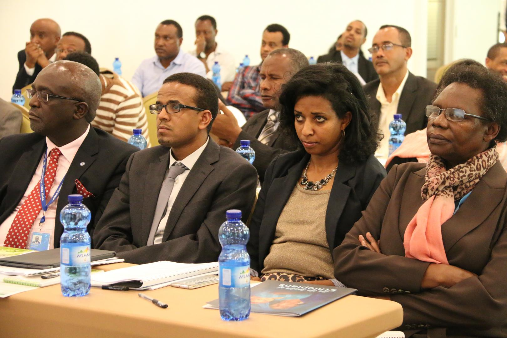 Representatives from Ministry of Health, UNDP and WHO attending the launching event