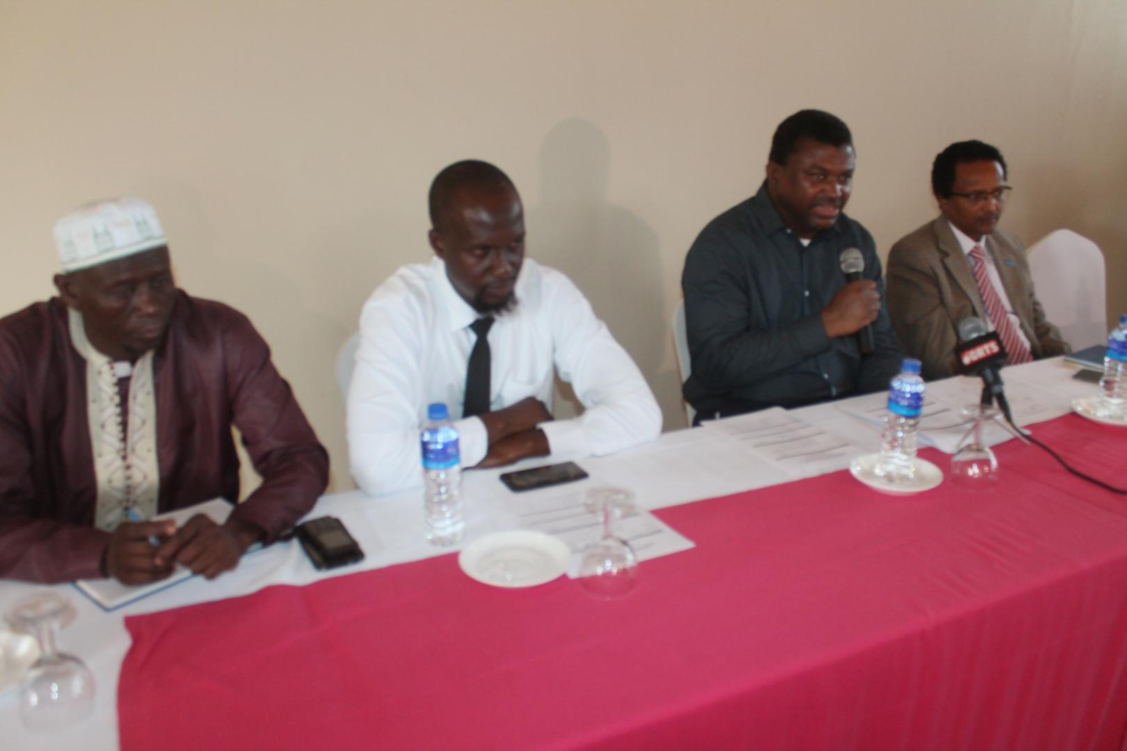 Members of the high table  at the opening ceremony