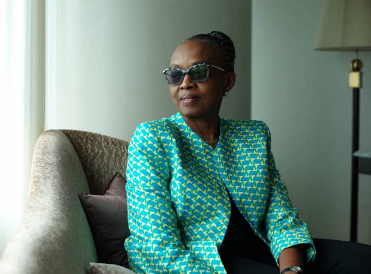 Matshidiso Moeti, the World Health Organization's regional director for Africa, is interviewed at a hotel in Yokohama on Thursday | Photo: RYUSEI TAKAHASHI