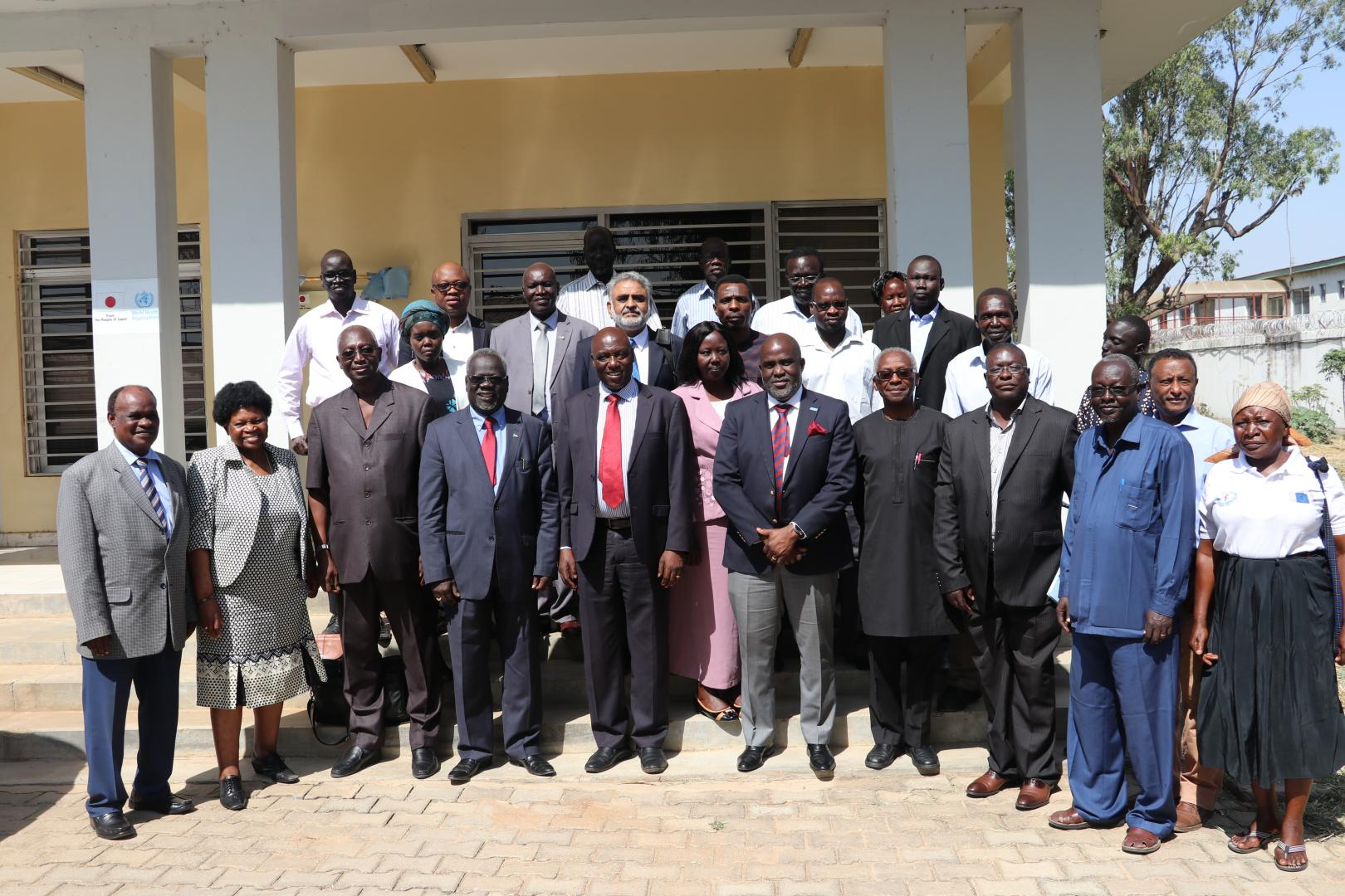 Hon. Dr Riek Gai Kok, Minister of Health – Republic of South Sudan with the delegation of the Africa Regional Certification Commission (ARCC) for poliomyelitis eradication during a two-week verification visit in South Sudan