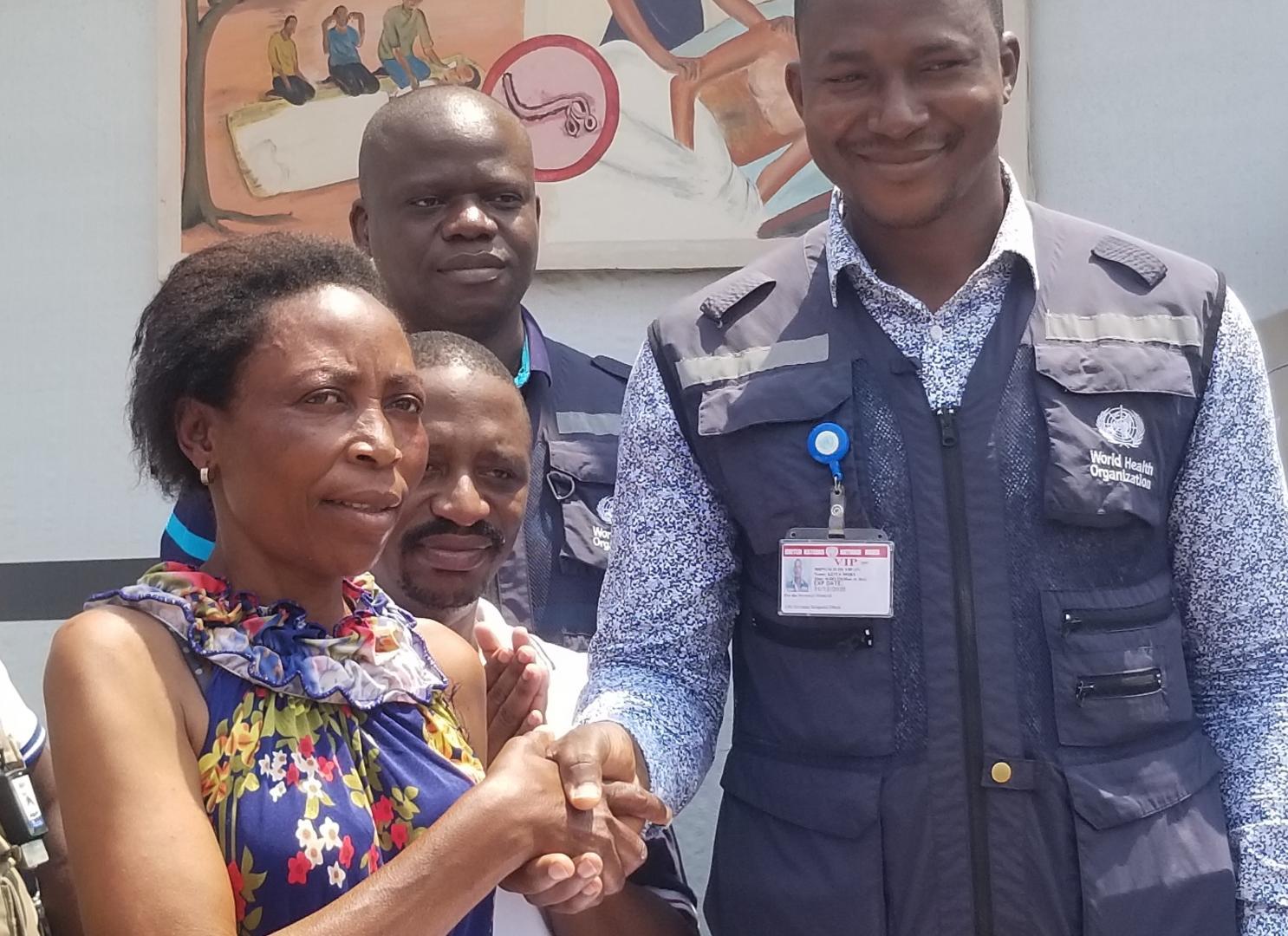 La dernière patiente Ebola de la République démocratique du Congo est sortie guérie du centre de traitement