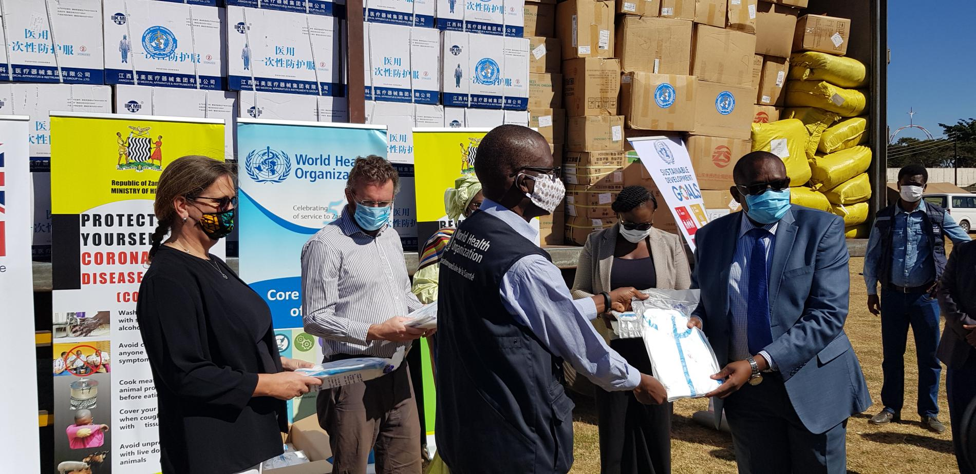 WHO Donates COVID-19 Supplies to MOH within the framework of the UN joint  effort aimed at supporting government to scale up preparedness and response  actions. | WHO | Regional Office for Africa
