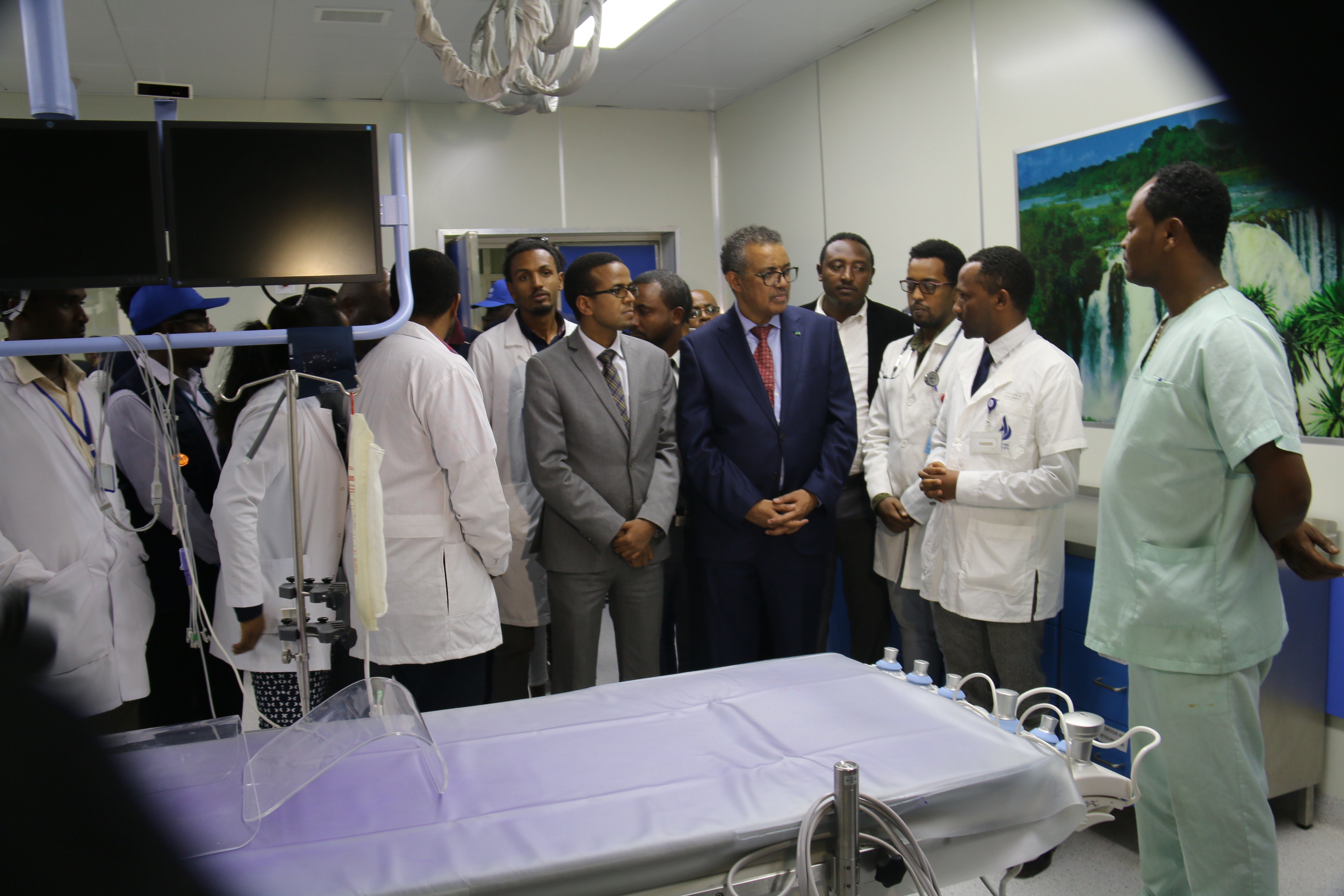 Dr tedros visiting the health facility