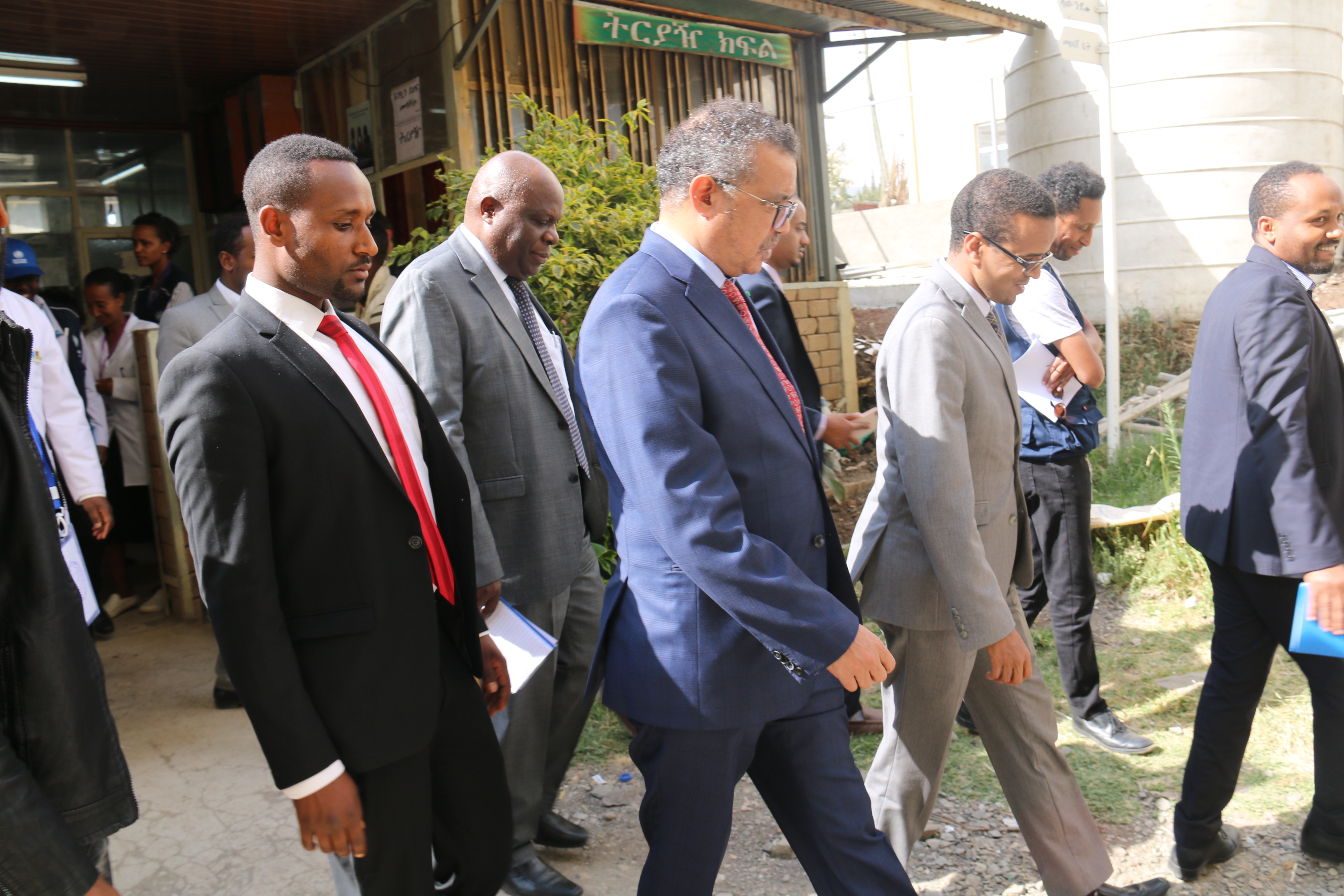 Dr Tedros while visiting Janmeda Health Center