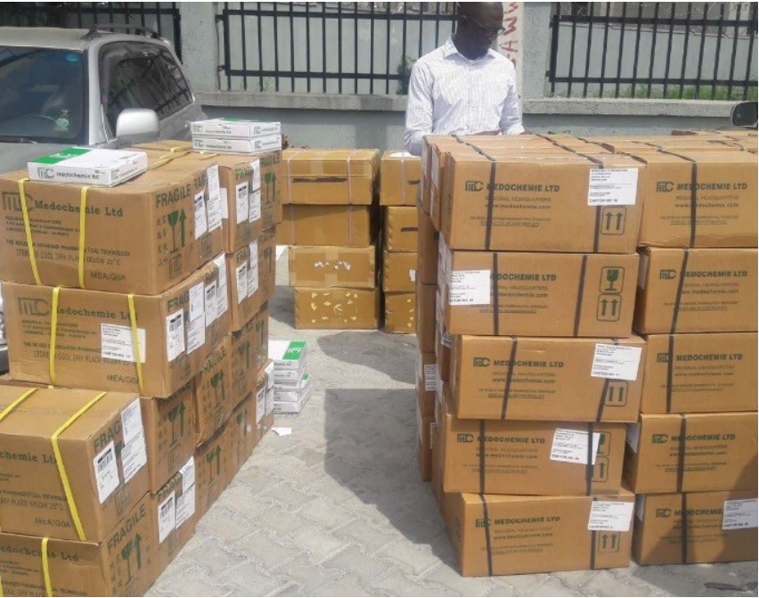 Cartons of 20, 000 Vials of 1g Ceftriaxone for treatment of 2000 Meningitis cases.