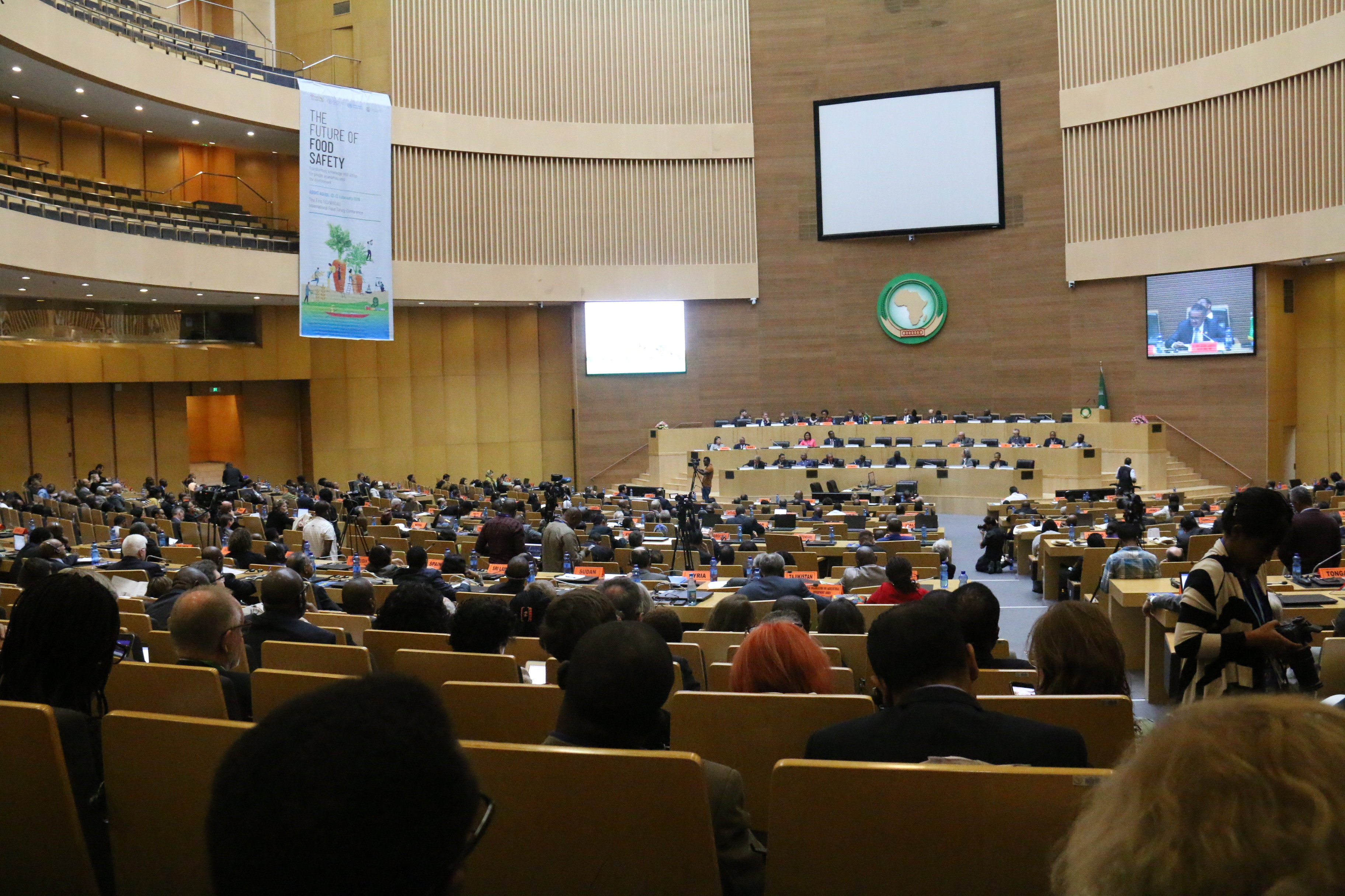 Participants attending the First FAO/WHO/AU International Food Safety Conference