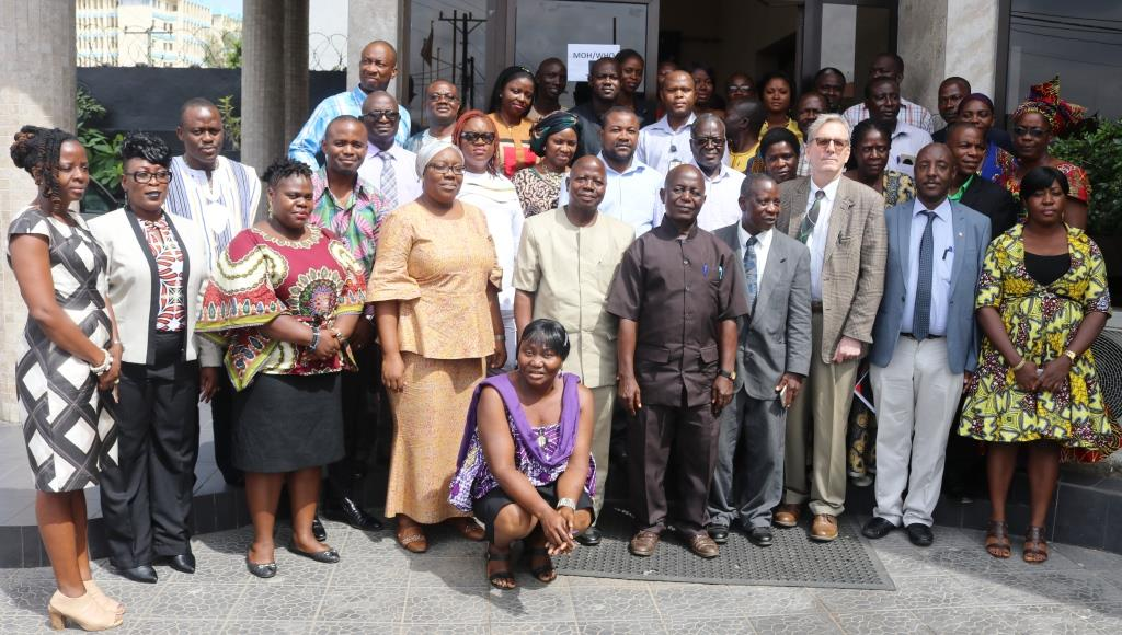 Group photo of stakeholders at the IPC validation workshop in Monrovia