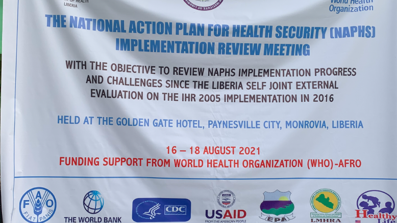 NAPHS Review meeting in Liberia