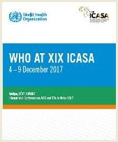 "Download flyer ""WHO at ICASA 2017"""