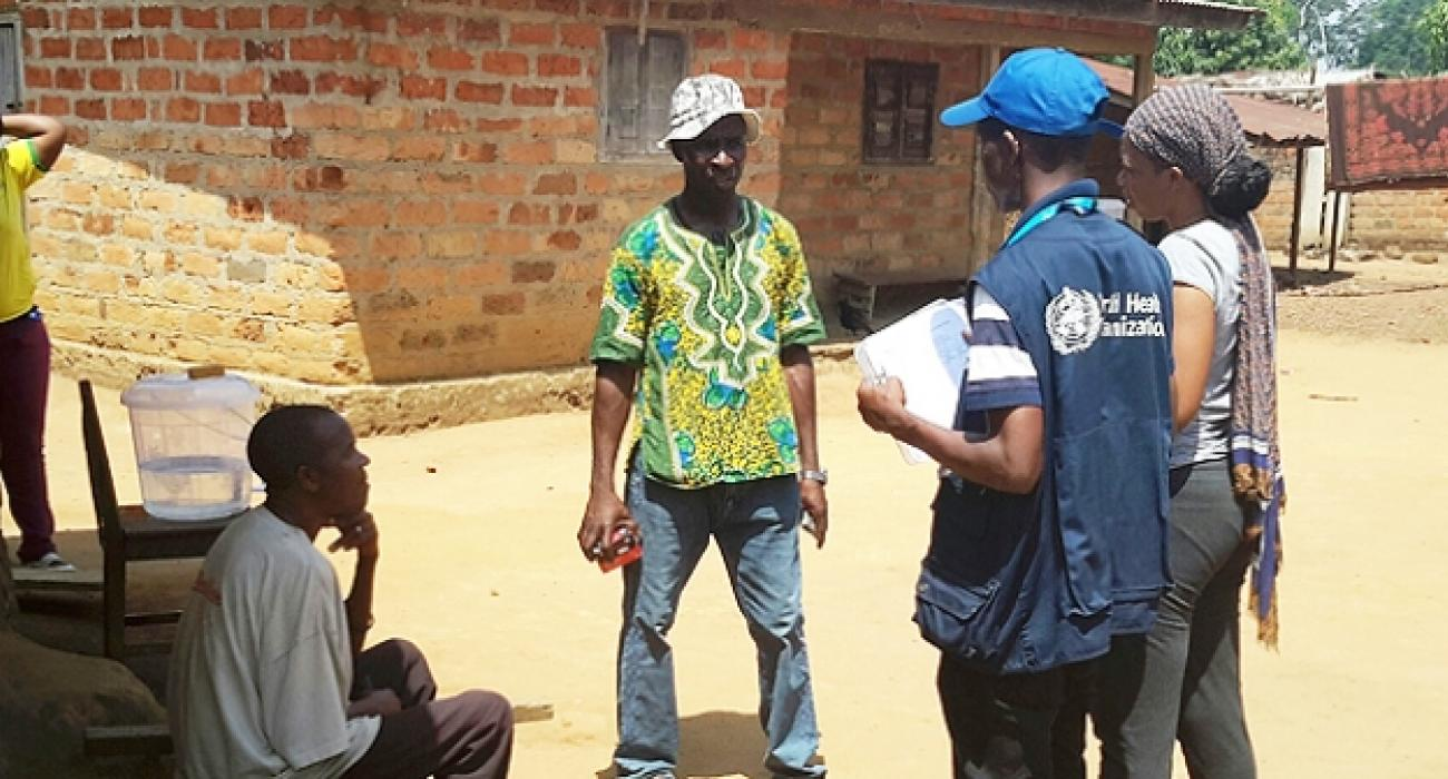 Door-to-door health monitoring visits are conducted in Koropara, Guinea WHO Guinea/Lancei Touré