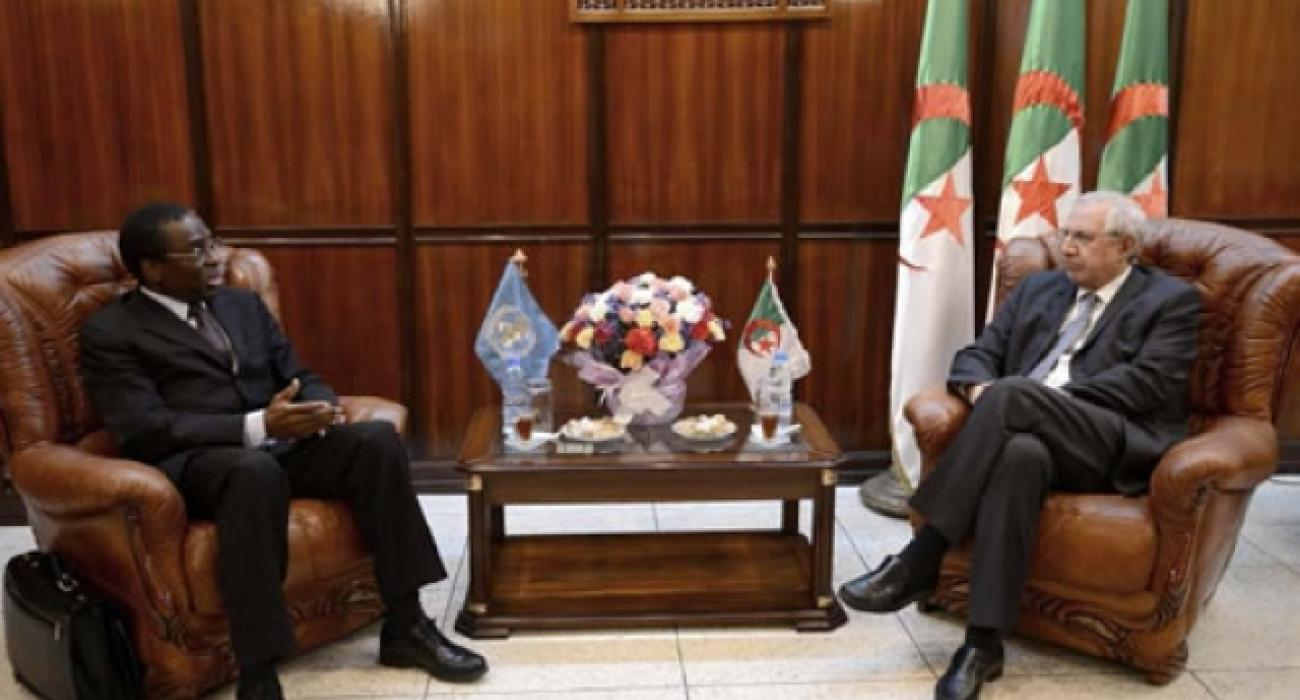 Dr Sambo having an audience with the Algerian Minister of Health, Population and Hospital Reform, Dr Abdelaziz ZIARI