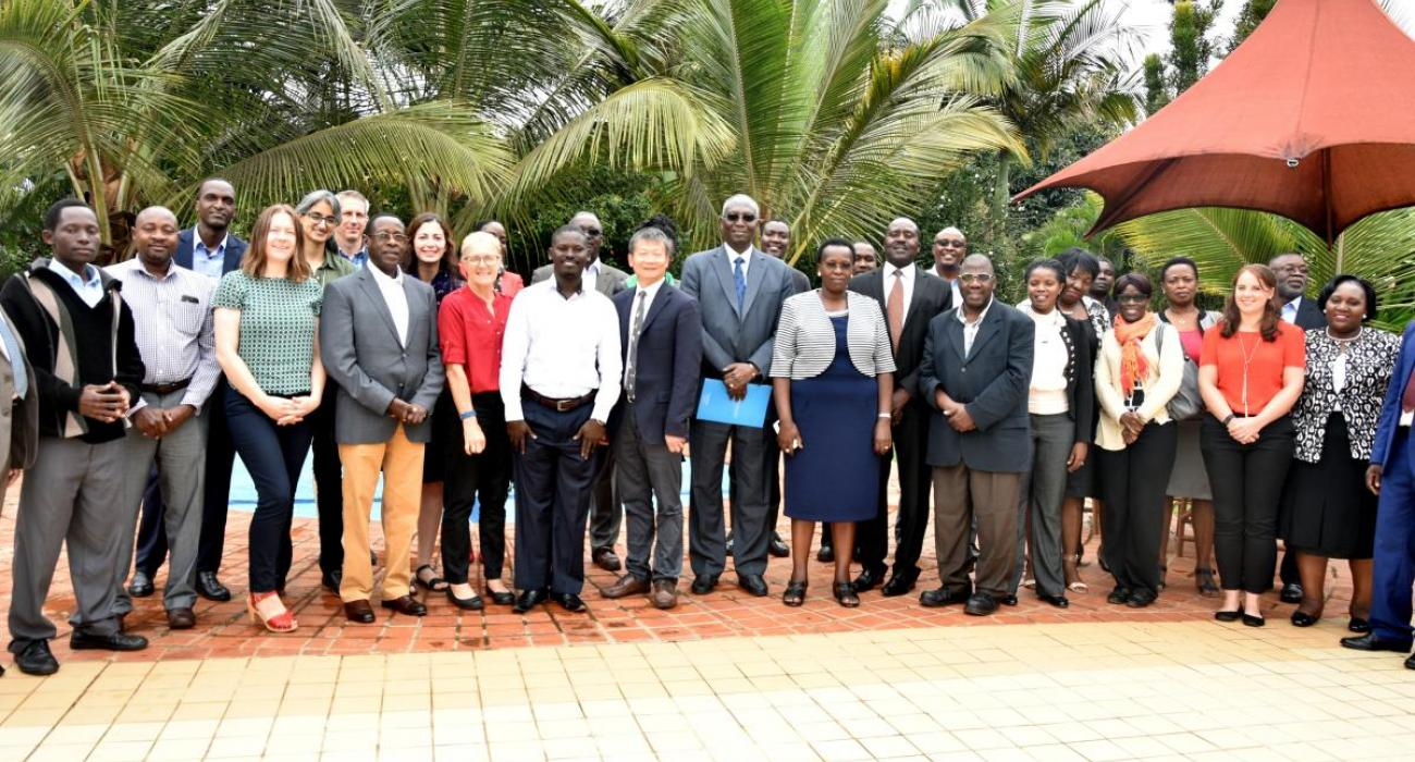Experts from different sectors of government and development partners that attended the meeting