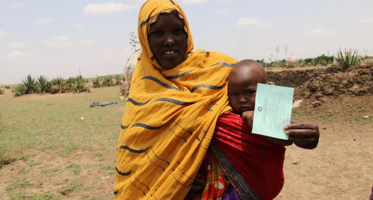 A child after geting Measles vaccination at Aroreys woreda of Ethiopia Somali regio