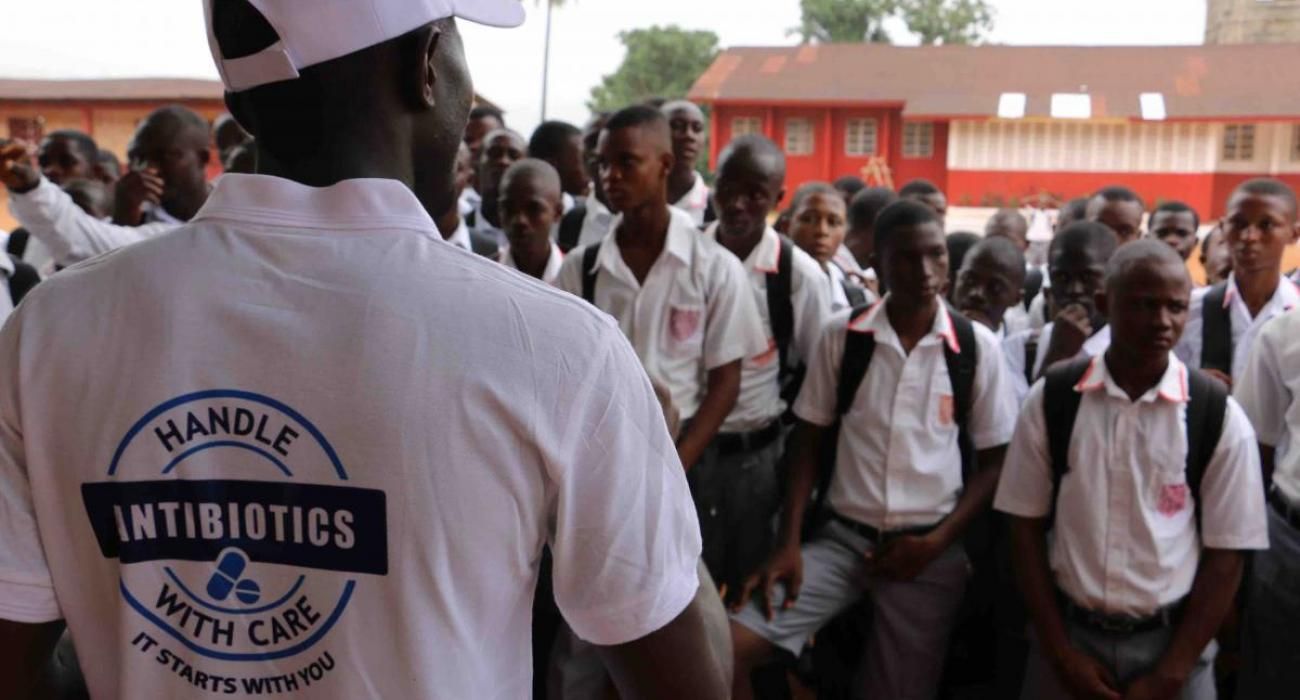 raising awareness on antibiotic resistance with school children in Sierra Leone