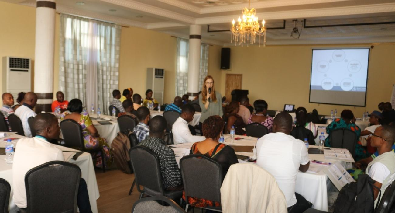 Cross-section of participants at the Advanced IPC follow-up training in Monrovia