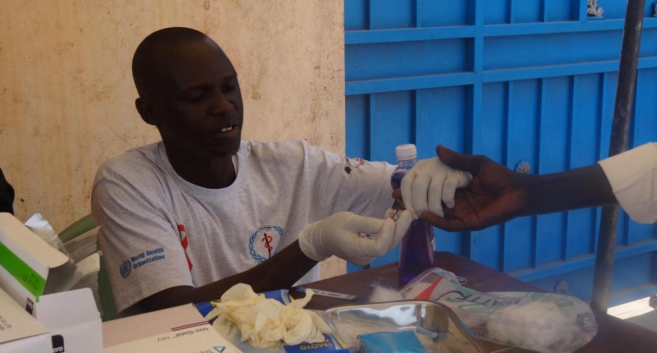 HIV testing and counselling services in Juba. Photo: WHO.