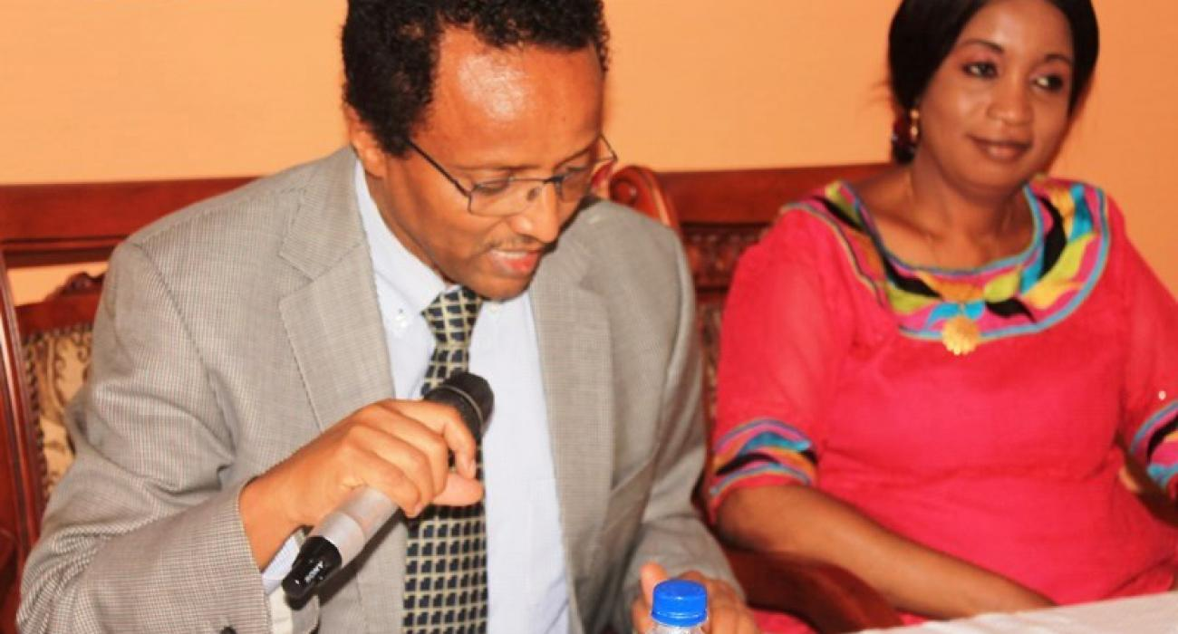 Dr. Desta A. Tiruneh sharing some words of wisdom with the trainees