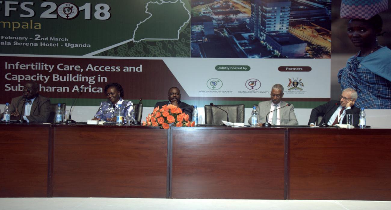 L-R: Professor Oladapo Ashiru, President of Africa Fertility Association,  Hon Sarah Opendi-