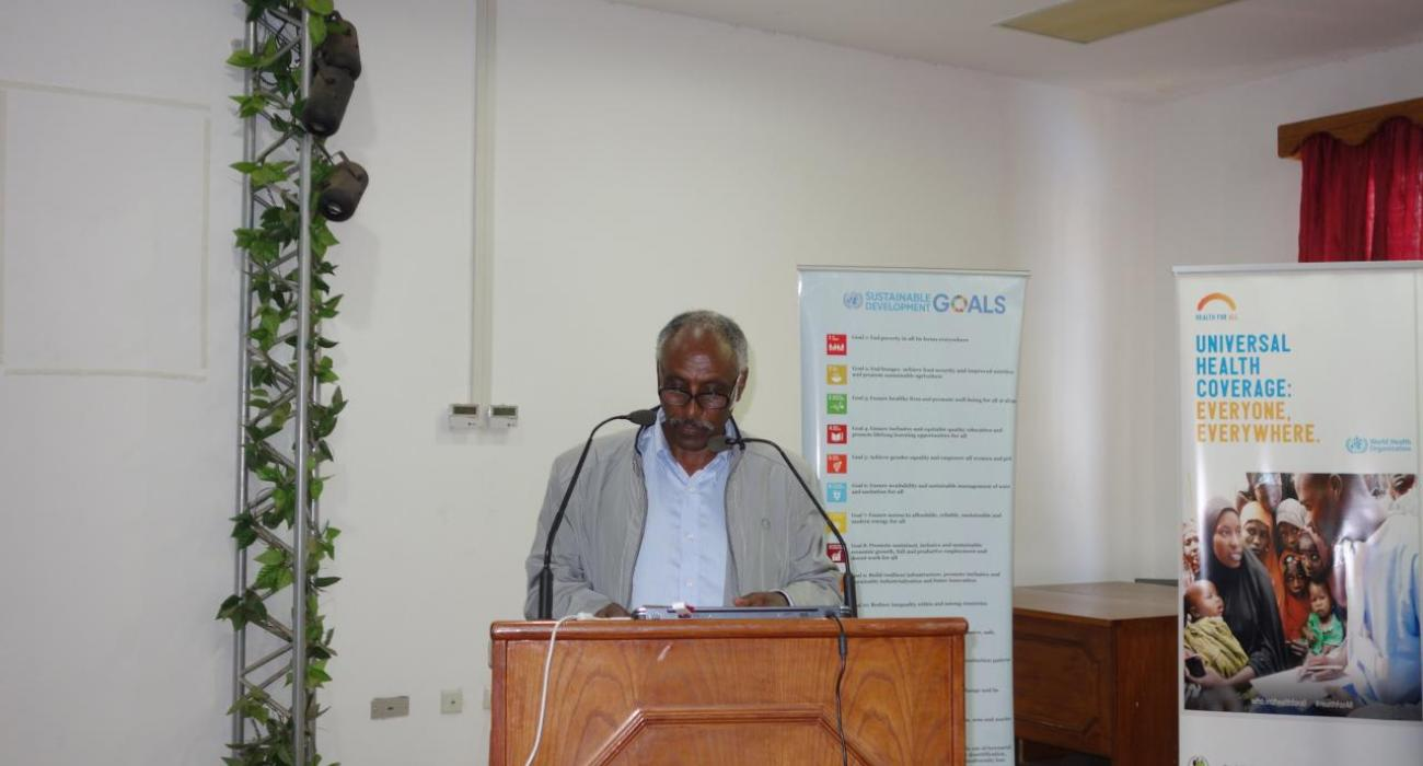 Dr Andebrhan Tesfatsion - acting DG of Public Health making remarks