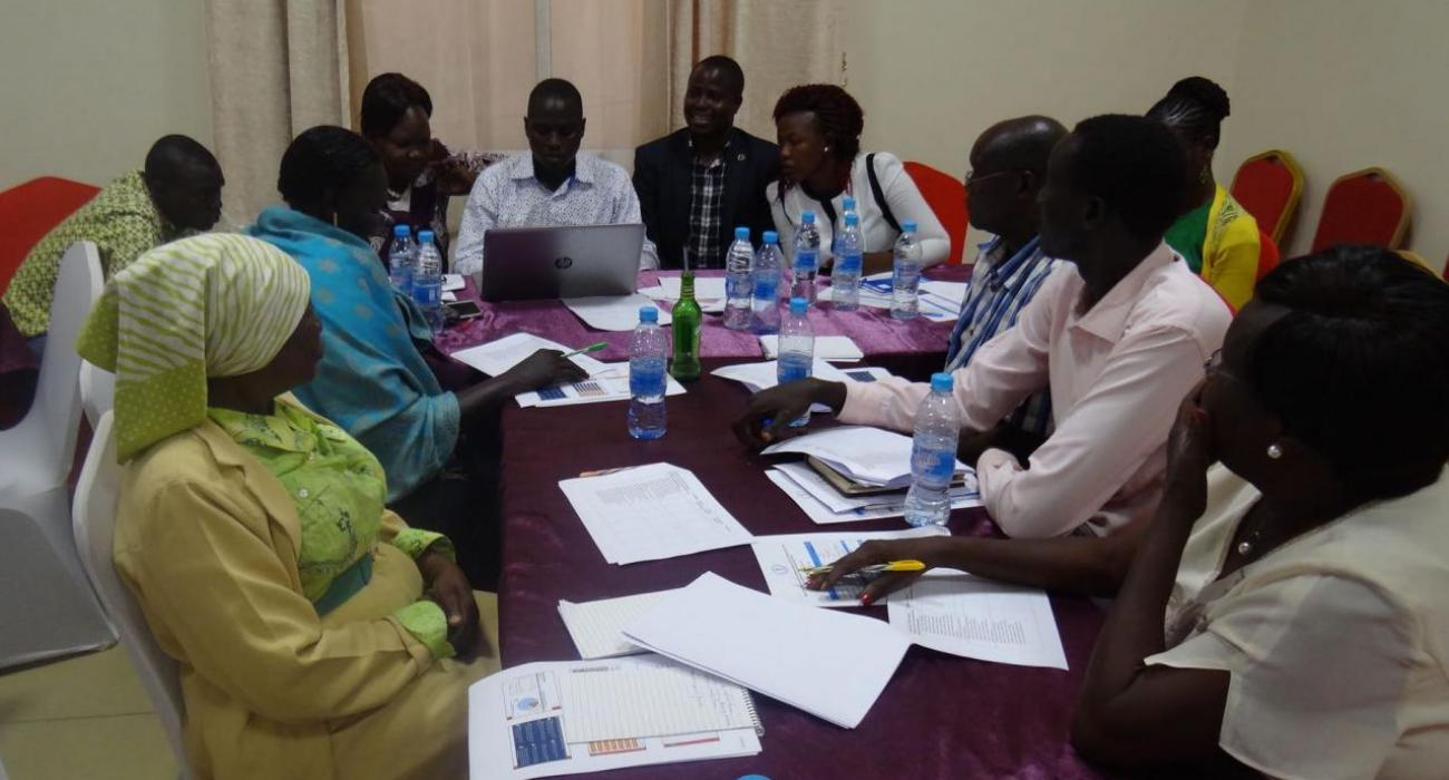 Stakeholders reviewing the draft health promotion strategy for South Sudan