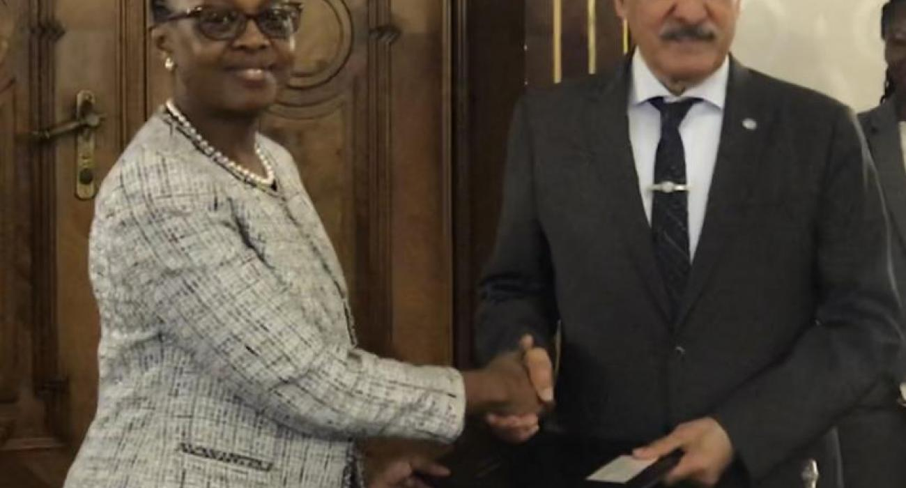 Dr Moeti with the DG of OFID