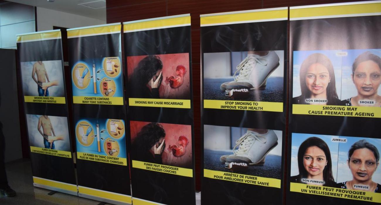 New pictorial health warnings for Mauritius unveiled during the launching of activities held in the context of the World No-Tobacco Day 2018
