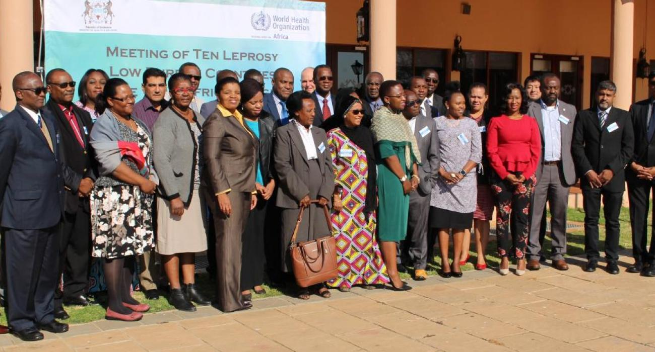 Participants and facilitators at the Leprosy Lower Burden Countries meeting