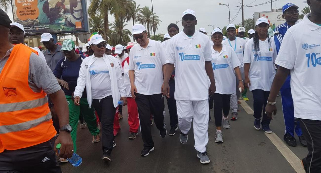 Participants of the health walk