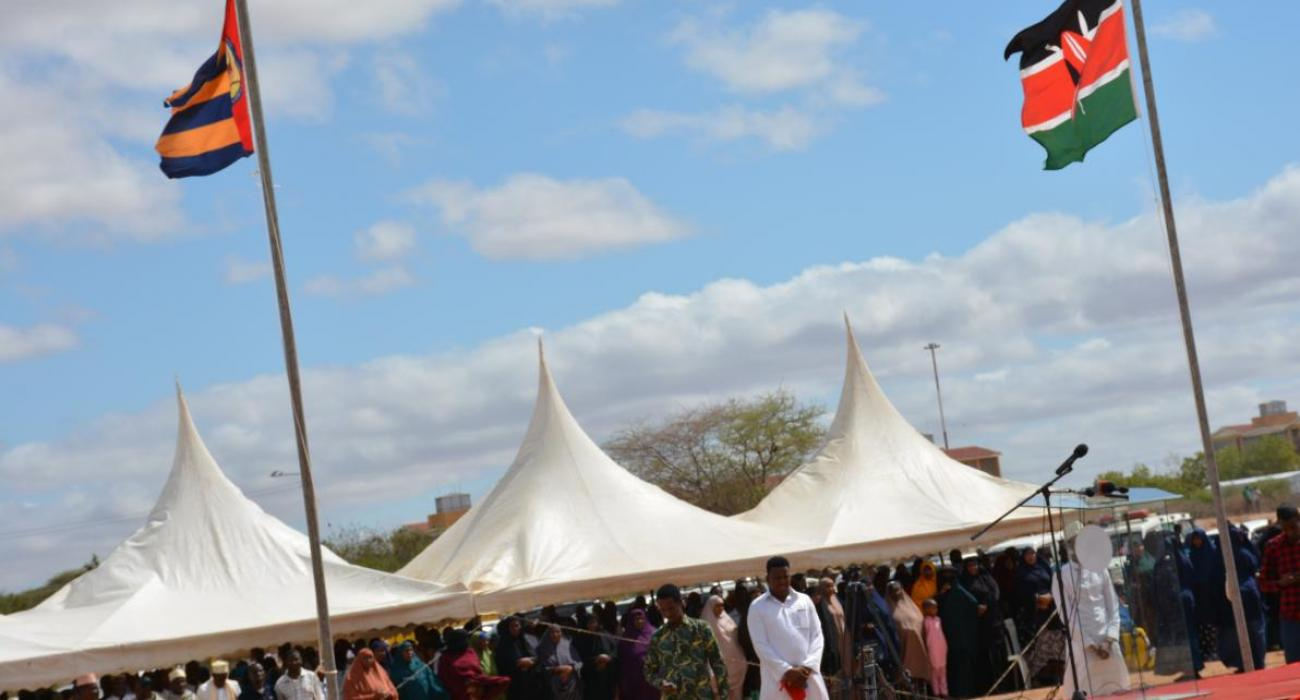 Members of the public at the Garissa venue for Horn of Africa polio launch