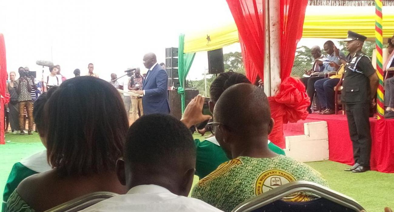 vice President of Ghana making a statement at the function