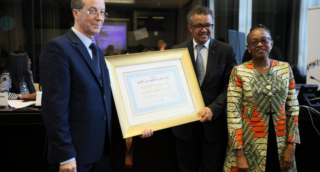 Algeria and Argentina certified malaria-free by WHO