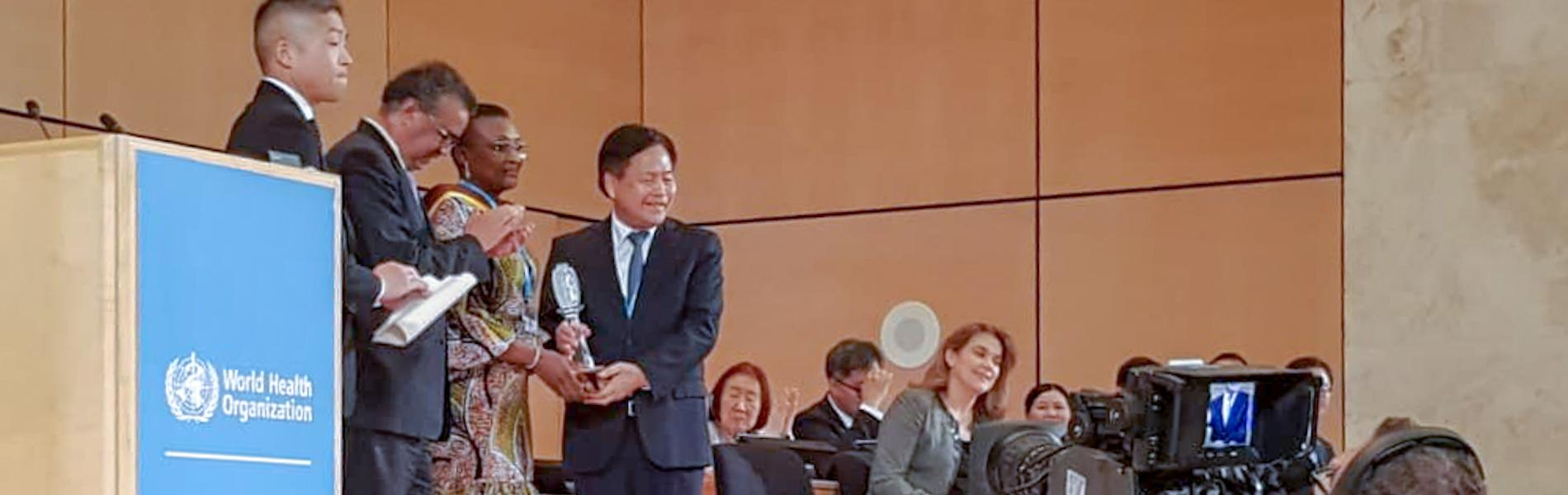 Professor Judith Torimiro is recognized at the World Health Assembly on 24 May 2019