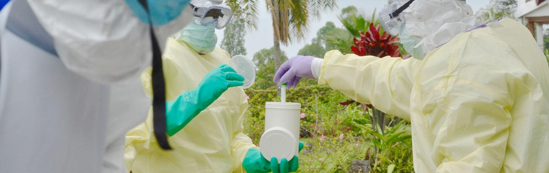 Ebola Rapid Response Team during a simulation exercise