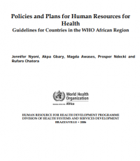 Developing human resources for health policy and plan: a guideline for countries