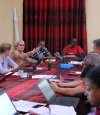 WHO surge team holds daily morning meetings to report on activities of the previous day and to update each other on upcoming events. This facilitates cross-pillar support and coordination for efficient resource use.