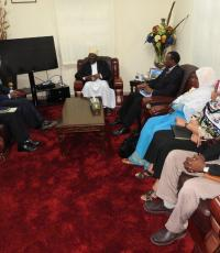 The Vice President of Zanzibar, meeting with Dr Kamwa, WHO staff and the Ministry of Health delegation