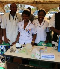 Staff of St John of Hope hospital displayed medical equipment and supplies they use to treat and care for people alcohol dependence problems