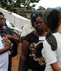 Photo of Mental Health Nurses providing psychosocial support in the mudslides affected community